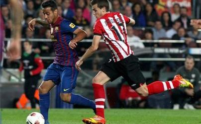 Thiago i Piqué po meczu