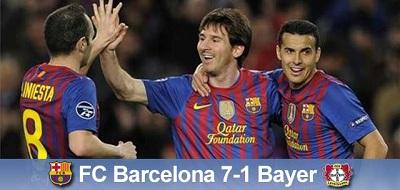 Nokaut i awans do ćwierćfinału: FC Barcelona 7-1 Bayer Leverkusen