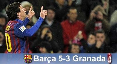 Popis Messiego, dwa rzuty karne i czerwona kartka: FC Barcelona 5-3 Granada