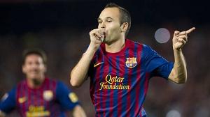 Wyróżnienie Premio Barça Jugadores dla  Iniesty