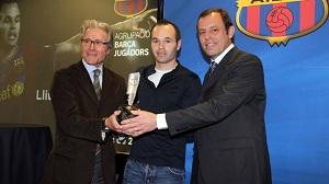 Iniesta odebrał wyróżnienie Premio Barça Jugadores