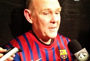 George Karl w koszulce FC Barcelony