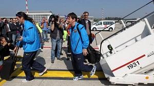 Pierwsza drużyna wróciła do Barcelony