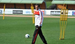 Siedmiu piłkarzy na niedzielnym treningu AC Milanu