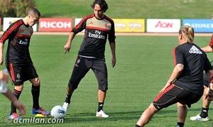Nesta, Lopez i Robinho obecni na treningu