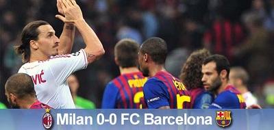 Bezbramkowo na San Siro: AC Milan 0-0 FC Barcelona