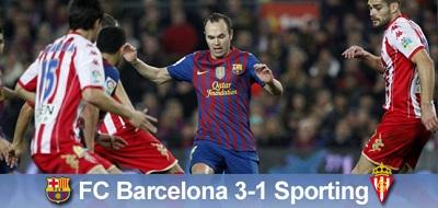 Czerwone trzy punkty: FC Barcelona 3:1 Sporting Gijón