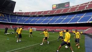 Ostatni trening przed meczem