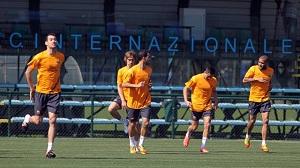 Trening w Centro Sportivo Giacinto Fachetti