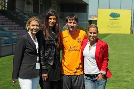 Tenisistki na treningu Barçy