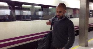 FC Barcelona udała się pociągiem do Saragossy
