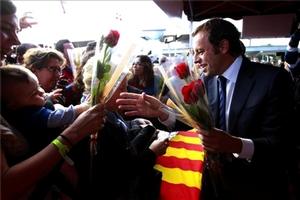 Barcelona rozdawała kwiaty i krawaty