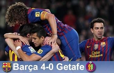 Presja na liderze: FC Barcelona 4-0 Getafe