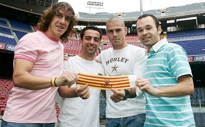 Czterech kapitanów Barçy w TOP10