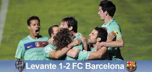 Messi przedłuża nadzieję: Levante UD – FC Barcelona 1:2