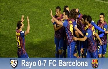 """Siódemka"" dla Pepa: Rayo Vallecano 0-7 FC Barcelona"