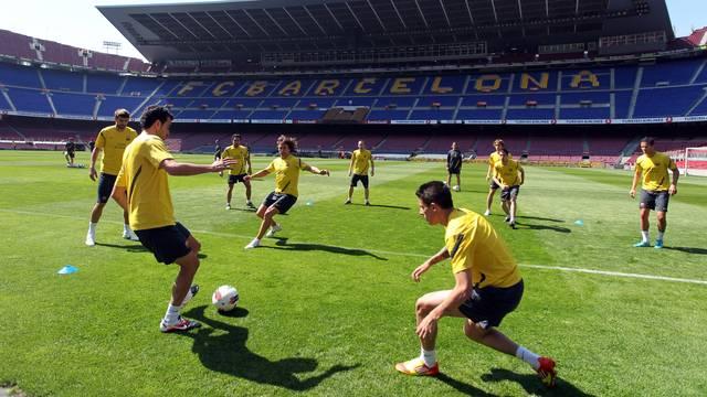 Trening na Camp Nou