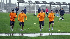 Sesja treningowa w deszczu