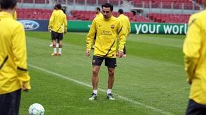 Xavi trenował normalnie z grupą