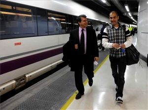 Laporta i Guardiola na konferencji w Barcelonie
