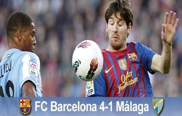Popis Leo Messiego: FC Barcelona 4-1 Málaga CF