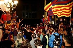 Tak fani świętowali w Madrycie