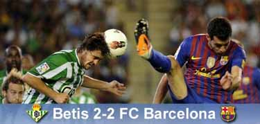 Ostatni punkt Guardioli: Betis-Barça 2-2