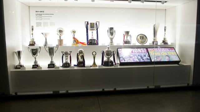 17 pucharów z sezonu 2011/12 w muzeum