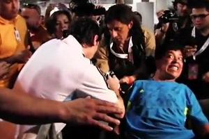 Messi spotkał się z niepełnosprawnym kibicem
