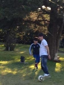 Messi relaksuje się w Gualeguaychú