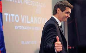 Pierwsza konferencja prasowa Tito Vilanovy