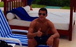 Alexis odpoczywa w Cancún