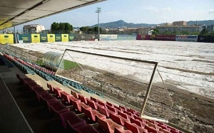 Murawa w Ciutat Esportiva, jak na Camp Nou
