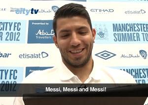 Agüero: Trzech najlepszych? Messi, Messi, Messi