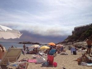 Thiago i Patrick świadkami pożaru w La Jonquera