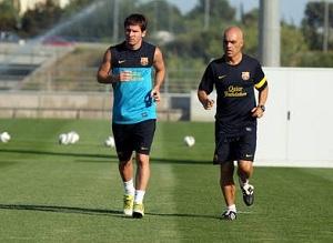 Messi trenował indywidualnie
