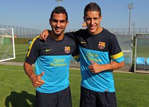 Montoya i Tello na treningu