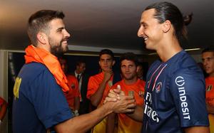 Pokojowe spotkanie Piqué i Ibry