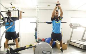Trening na siłowni Barçy Alusport