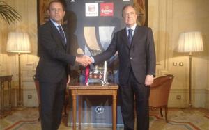 Rosell i Florentino Pérez uczestniczyli w oficjalnym obiedzie