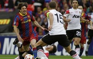 Barça zarobi na spotkaniu z Manchesterem United