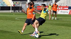 Trening z Albą, ale bez Daniego Alvesa