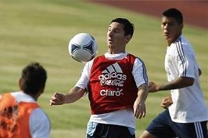 Messi – gwiazda treningu we Frankfurcie