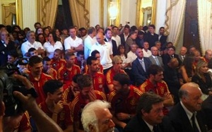Reprezentanci Hiszpanii uhonorowani