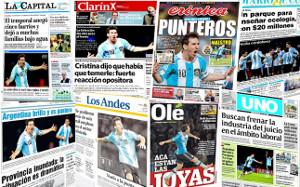 Prasa argentyńska poddaje się magii Messiego
