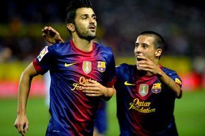 Messi i Villa świętują razem