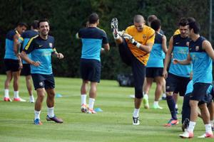 Trening Barcelony