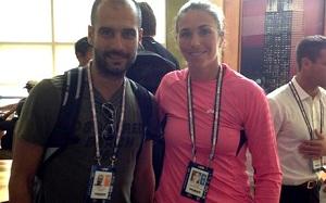 Guardiola z wizytą na US Open