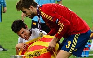 Piqué: Chciałbym grać w koszulce w barwach senyery