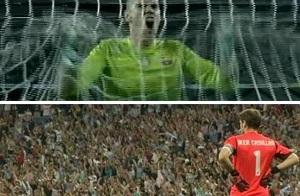 Tak Valdés świętował gola Xaviego
